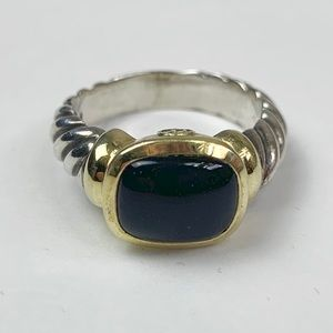David Yurman Onyx Noblesse Cable Ring